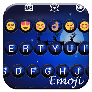 Christmas Night Emoji Keyboard