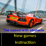 The speed with obstacle
