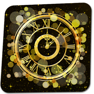 Gold Wallpaper Clock
